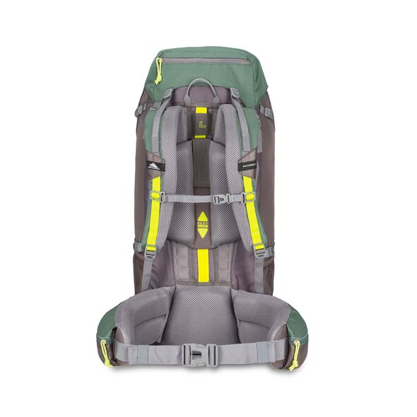 High Sierra Pathway 60L Pack in the color Pine/Slate/Chartreuse.