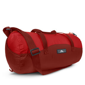High Sierra Pack-N-Go 2 18L Duffel In A Bottle in the color Brick/Carmine/Red Line.