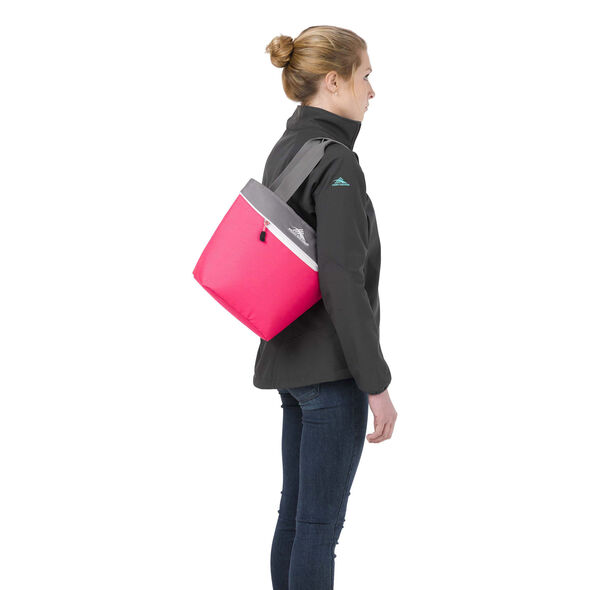 High Sierra Lunch Packs Tote in the color Flamingo Pink.