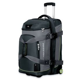 """High Sierra AT3 26"""" Drop Bottom Wheeled Duffel in the color Graphite/Titanium/Spring."""