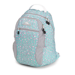 High Sierra Curve Backpack in the color Mint Leopard.