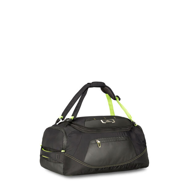 """High Sierra AT8 22"""" Duffel Backpack in the color Black Zest."""