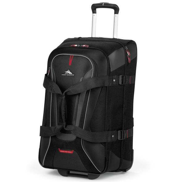 """High Sierra AT7 26"""" Wheeled Duffle in the color Black."""