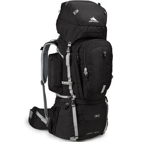 High Sierra Classic 2 Series Long Trail 90 Frame Pack in the color Black/Silver.