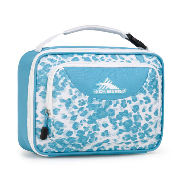 High Sierra Lunch Packs Single Compartment in the color Tropic Leopard/Tropic Teal.