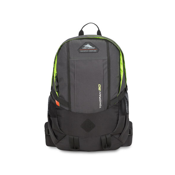 High Sierra Tokopah 30L Pack in the color Raven/Black/Zest.