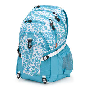 High Sierra Loop Backpack in the color Tropic Leopard/Tropic Teal/White.