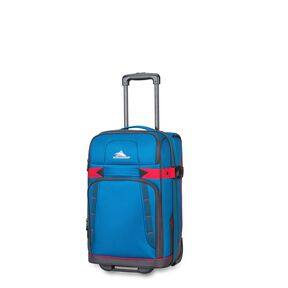 High Sierra Evanston Carry-On Upright in the color Peacock/Mercury/Crimson.