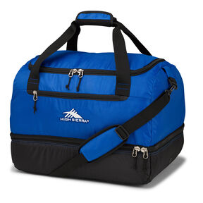 High Sierra Over Under Cargo Duffel in the color Vivid Blue/Black.