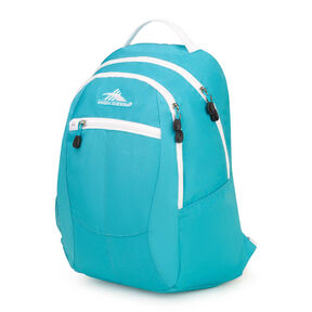 High Sierra Curve Backpack in the color Tropic Teal/ White.
