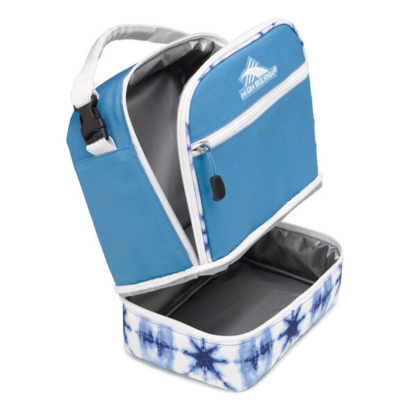 High Sierra Lunch Packs Stacked Compartment in the color Mineral/Indigo Dye/White.