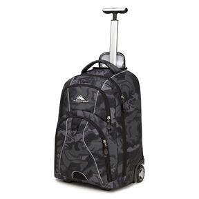 High Sierra Freewheel Wheeled Backpack in the color Kamo/Black.