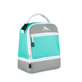 High Sierra Lunch Packs Stacked Compartment in the color Aquamarine/Ash/White.