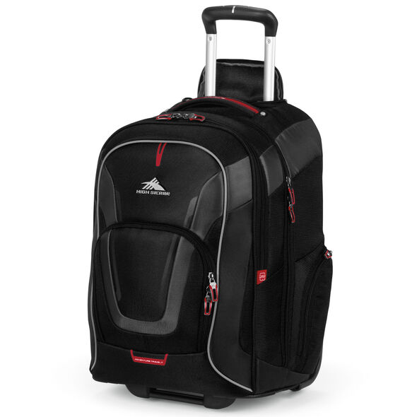 High Sierra AT7 Wheeled Computer Backpack in the color Black.