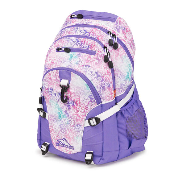 High Sierra Loop Backpack in the color Delicate Lace/Lavender/White.