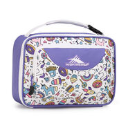 High Sierra Lunch Packs Single Compartment in the color Sweet Cakes/ Lavender/White.
