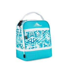 High Sierra Lunch Packs Stacked Compartment in the color Teal Shibori.