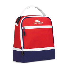 High Sierra Lunch Packs Stacked Compartment in the color Crimson/True Navy/ White.