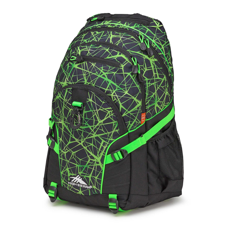 Web colors lime - High Sierra Loop Backpack In The Color Digital Web Black Lime