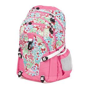 High Sierra Loop Backpack in the color Summer Flight/Pink Lemonade.