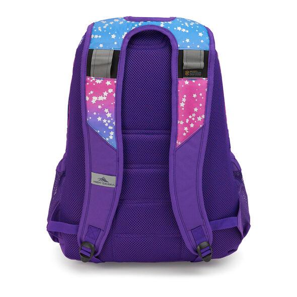 High Sierra Loop Plus Backpack in the color Stardust/Deep Purple.