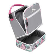 High Sierra Lunch Packs Stacked Compartment in the color Ash/Safari/Pink Lemonade/White.