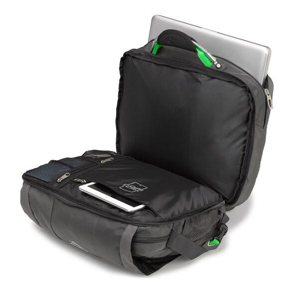 High Sierra XBT TSA Messenger in the color Mercury/ Charcoal.