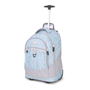 High Sierra Chaser Wheeled Backpack in the color Mint Leopard.