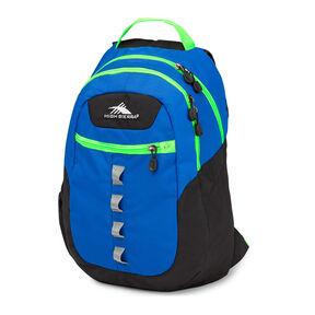 High Sierra Opie Backpack in the color Black/Vivid Blue/Lime.