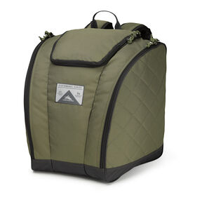 High Sierra Trapezoid Boot Bag in the color Moss/Quilted Moss/Raven.