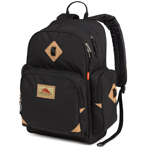 High Sierra Warren Backpack in the color Black.