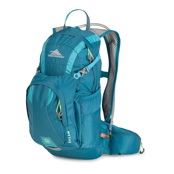 High Sierra Bream Hydration Pack in the color Sea/ Tropic Teal/ Zest.