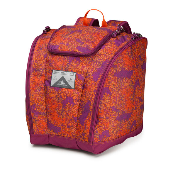 High Sierra Trapezoid Boot Bag in the color Moroccan Tile/Berry Blast/Redline.