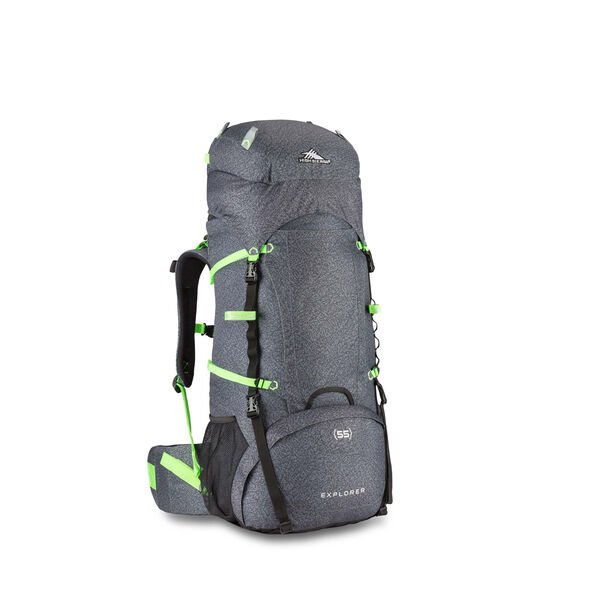 High Sierra Classic 2 Series Explorer 55 Frame Pack in the color Texture/Black/Lime.