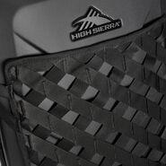 "High Sierra OTC Hardside 22"" Upright in the color Black/Black/Black."