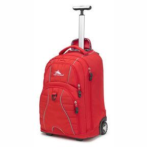 High Sierra Freewheel Wheeled Backpack in the color Crimson.