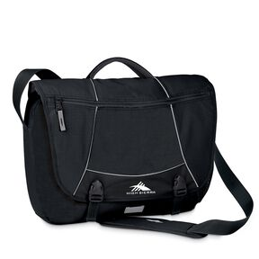 High Sierra Totes & Messengers Tank Messenger Bag in the color Black.