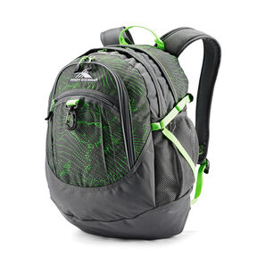 High Sierra Fatboy Backpack in the color Light Wave/Mercury/Lime.