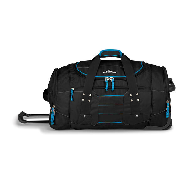 "High Sierra Ultimate Access 2.0 26"" Wheeled Duffel in the color Black/Blueprint."