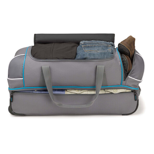 """High Sierra Boxed 28"""" Wheeled Duffel in the color Mercury/Charcoal."""
