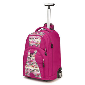 High Sierra Freewheel Wheeled Backpack in the color Razzmatazz/Macrame.