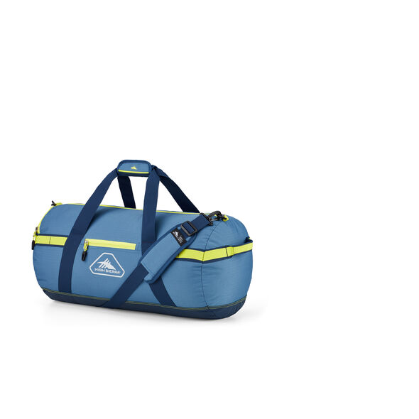 """High Sierra Packed Cargo Duffles 24"""" Small Duffel in the color Graphite Blue/Rustic Blue/Glow."""