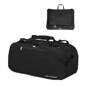 "High Sierra 30"" Pack-N-Go Duffel in the color Black."