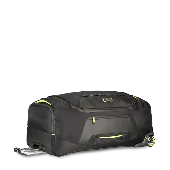 "High Sierra AT8 34"" Wheeled Duffel in the color Black Zest."