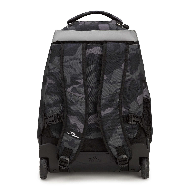 8ef632acde High Sierra Freewheel Wheeled Backpack in the color Kamo Black.