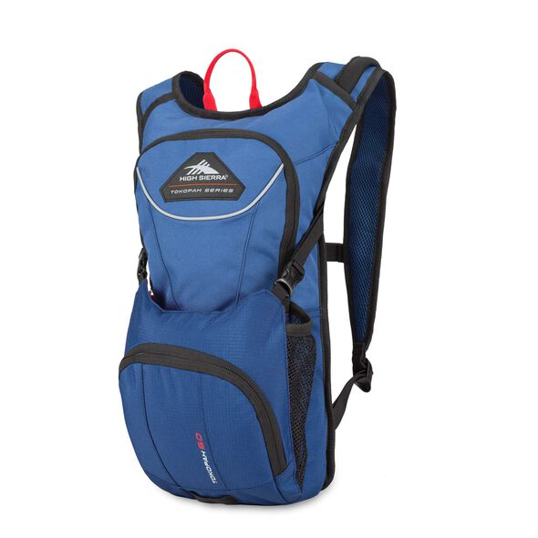 High Sierra Tokopah 6L Hydration Pack in the color Pilot/Atlantic/Crimson.