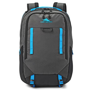 High Sierra Litmus Backpack in the color Mercury/Black/Pool.