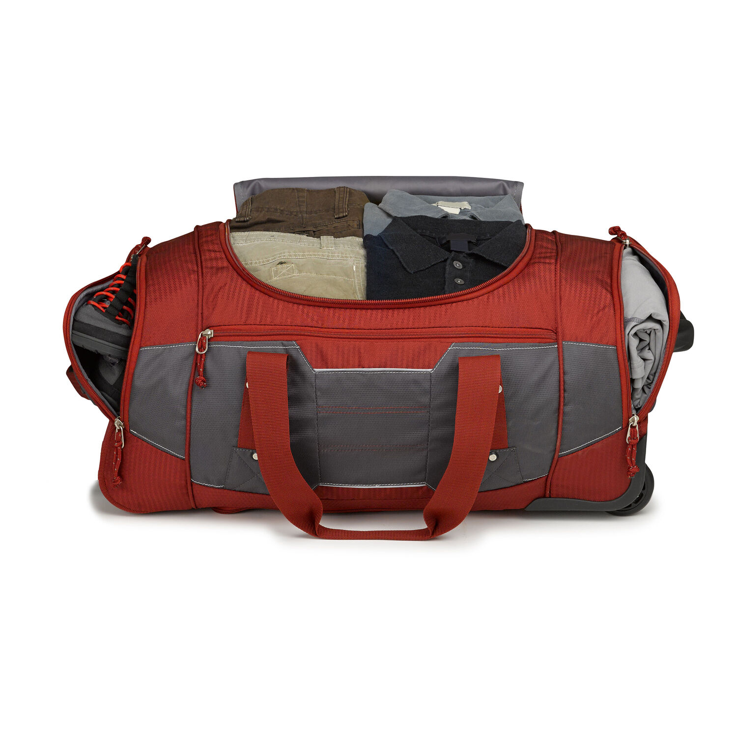 c64a720197 High Sierra Ultimate Access 2.0 26 quot  Wheeled Duffel in the color Brick  Red Mercury