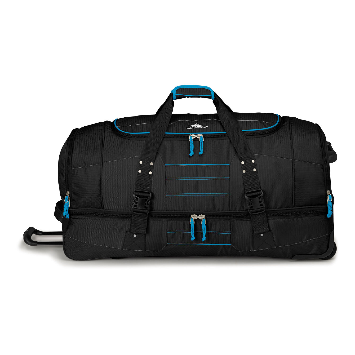 5ca7d259fb High Sierra Ultimate Access 2.0 36 quot  Drop-Bottom Wheeled Duffel in the  color Black