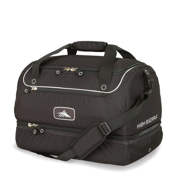 High Sierra Over Under Cargo Duffel in the color Black.
